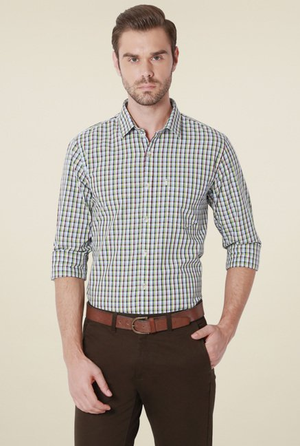 Peter England Multicolor Checks Cotton Shirt