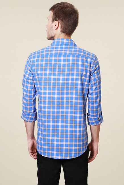 Peter England Blue Regular Fit Shirt