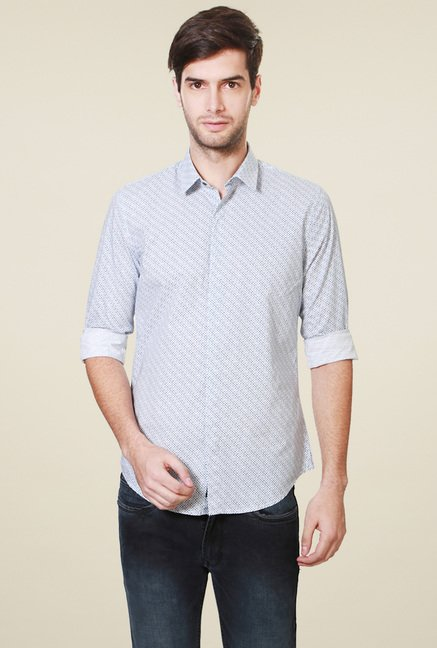 Peter England Light Blue Slim Fit Shirt