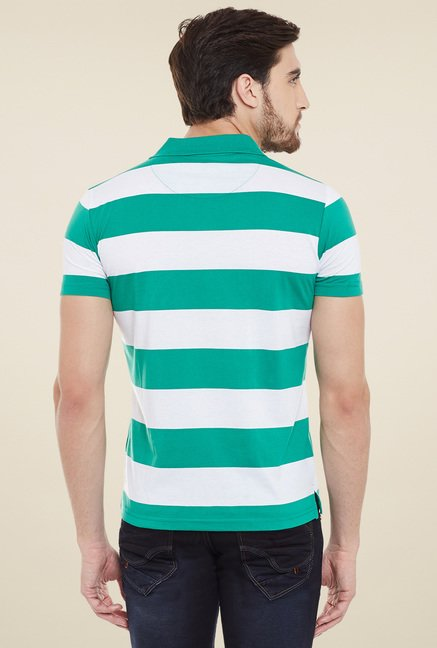 Duke Green & Pink Striped Polo T-Shirt (Pack of 2)