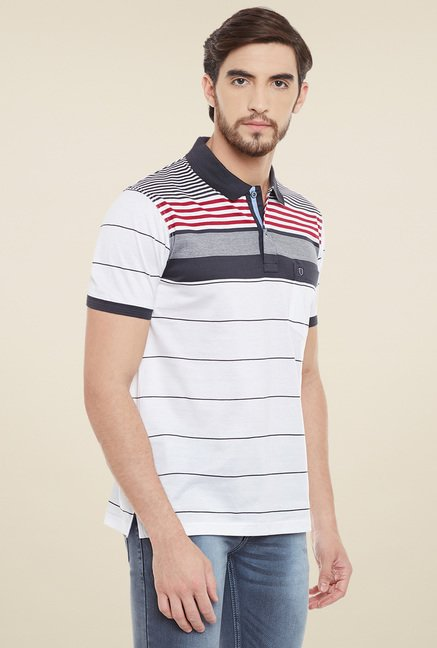 Duke White Half Sleeves Polo T-Shirt