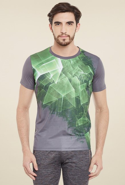 Duke Grey & Green Printed T-Shirt