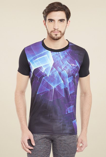 Duke Black & Blue Printed T-Shirt