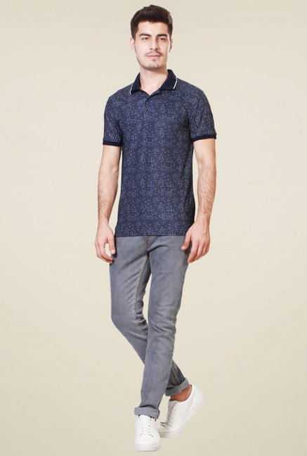 Peter England Navy Polo T-Shirt