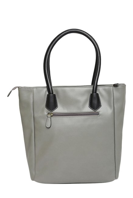 Lavie Silat Grey Color Block Handbag