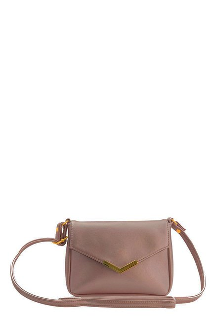 c23ba968b64 Buy Lavie Rosetta Pastel Pink Solid Sling Bag For Women At Best Price   Tata  CLiQ