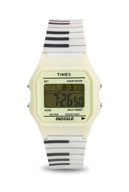 Timex TWH3Z2510 Digital White Dial Unisex Watch (TWH3Z2510)