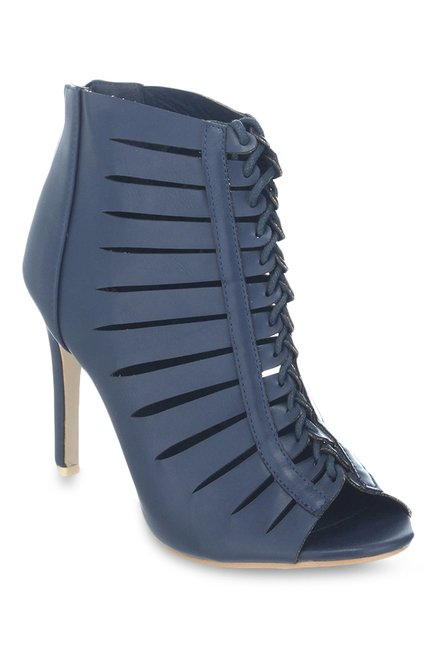 aba672166ed Buy Shuz Touch Navy Stiletto Heeled Gladiator Sandals for Women at ...