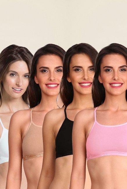 4d0d97c4ebd1a Buy Jockey Multi Color Sports Bra Combo Pack of 4 - 1351 for Women Online    Tata CLiQ