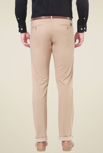 Allen Solly Beige Slim Fit Trousers