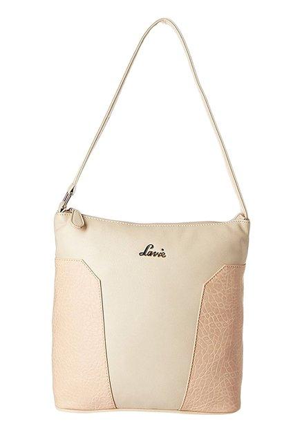 074c287884ff Buy Lavie Mercury Cream Textured Hobo Bag For Women At Best ...
