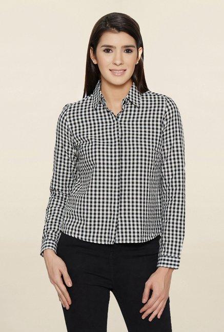 Globus Black & White Checks Shirt
