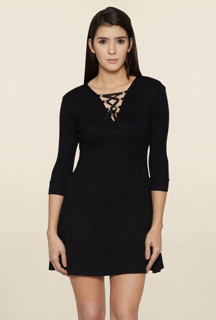 Globus Black Mini Dress