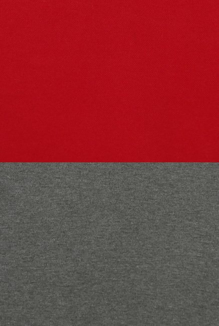 Peter England Red & Grey Slim Fit T-Shirt (Pack of 2)