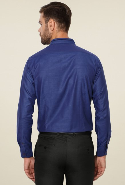 Van Heusen Royal Blue Full Sleeves Regular Fit Shirt