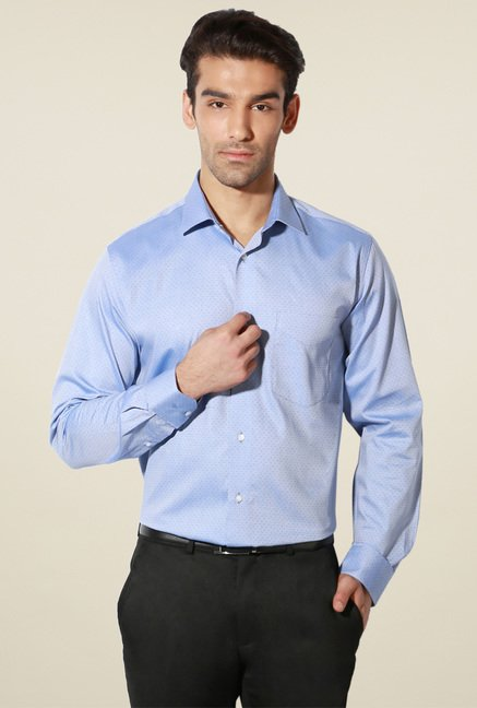 Van Heusen Baby Blue Regular Fit Cotton Shirt