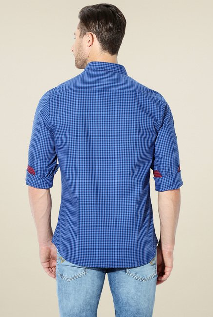 Van Heusen Royal Blue Checks Shirt