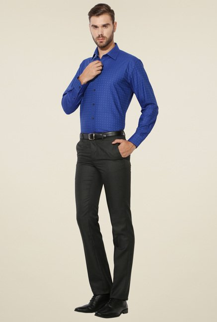 Van Heusen Ink Blue Full Sleeves Regular Fit Shirt