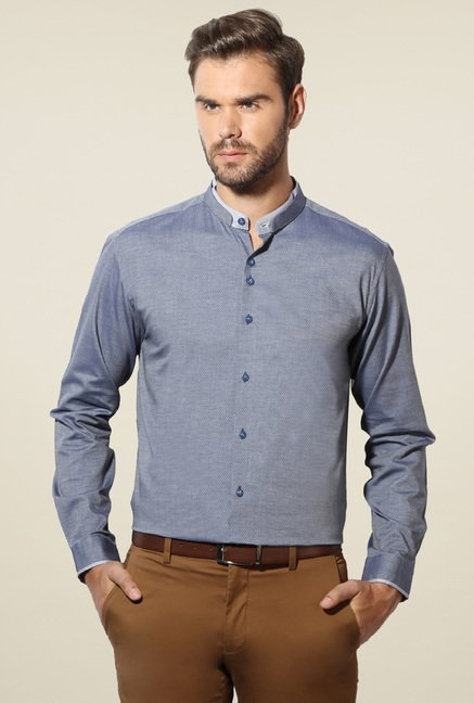 Van Heusen Stone Blue Slim Fit Shirt