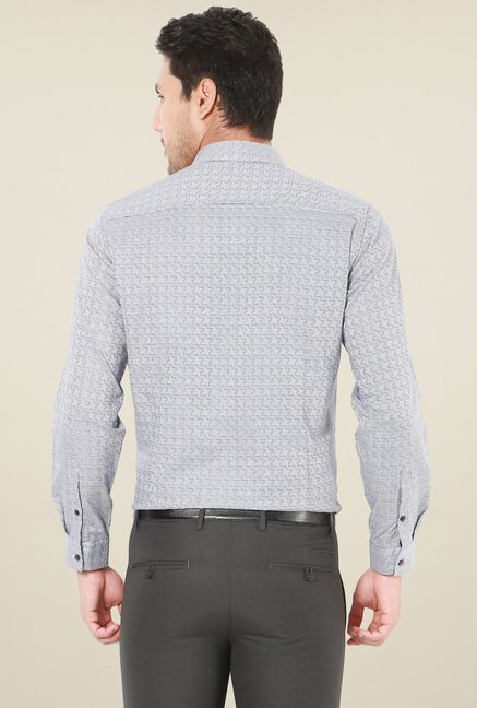 Van Heusen Light Grey Full Sleeves Slim Fit Shirt