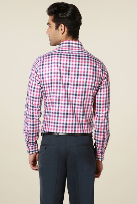 Van Heusen Multicolor Full Sleeves Cotton Shirt