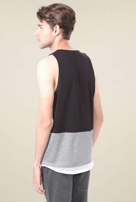 People Black Sleeveless T-Shirt