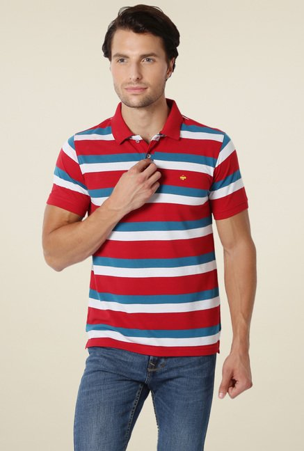 Peter England Red Slim Fit T-Shirt