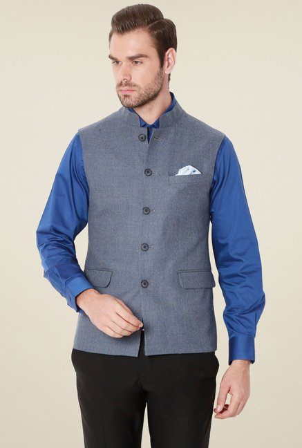 Van Heusen Slate Blue Sleeveless Jacket