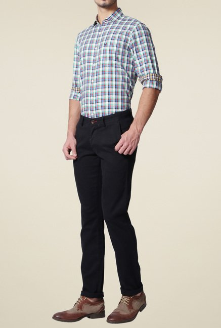 Allen Solly Black Comfort Fit Trousers