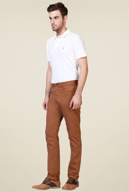 Allen Solly Caramel Mid Rise Trousers