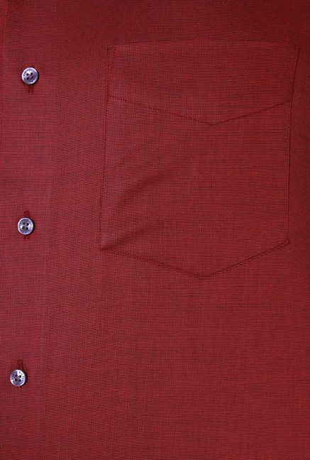 Van Heusen Red Custom Fit Shirt