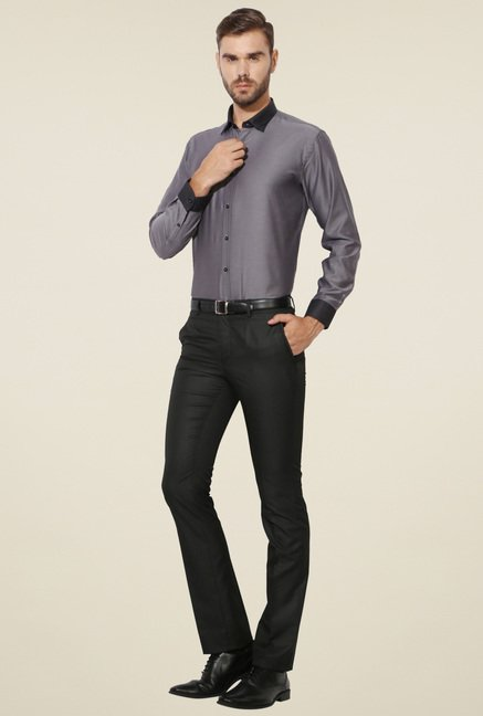 Van Heusen Grey Solid Shirt