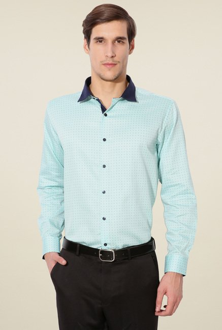 Van Heusen Baby Blue Full Sleeves Shirt
