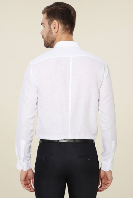 Van Heusen White Full Sleeves Shirt