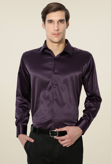 Van Heusen Purple Regular Fit Shirt