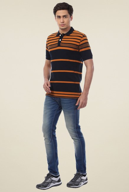 Van Heusen Navy Polo Regular Fit T-Shirt