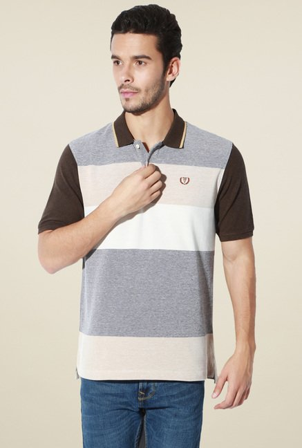 Van Heusen Multicolor Cotton Slim Fit Polo T-Shirt