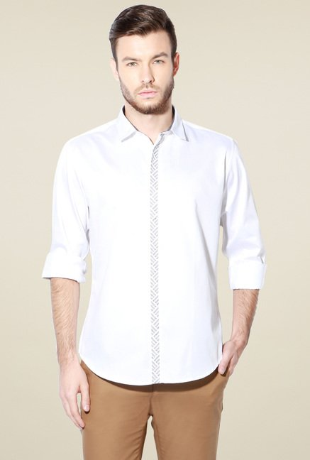 Van Heusen White Cotton Shirt