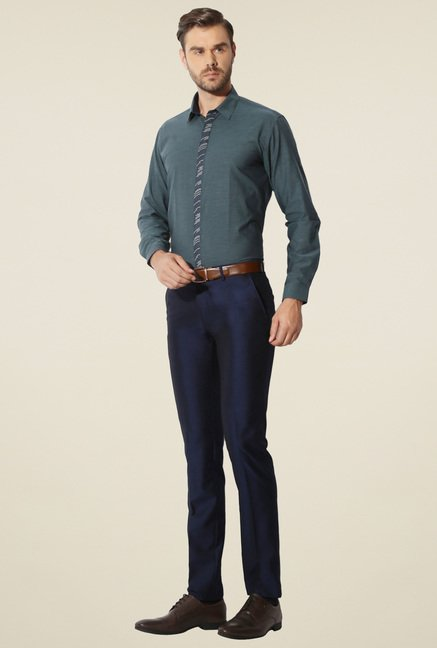 Van Heusen Slate Blue Cotton Shirt