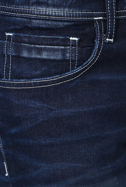 Van Heusen Navy Lightly Washed Ultra Slim Fit Jeans