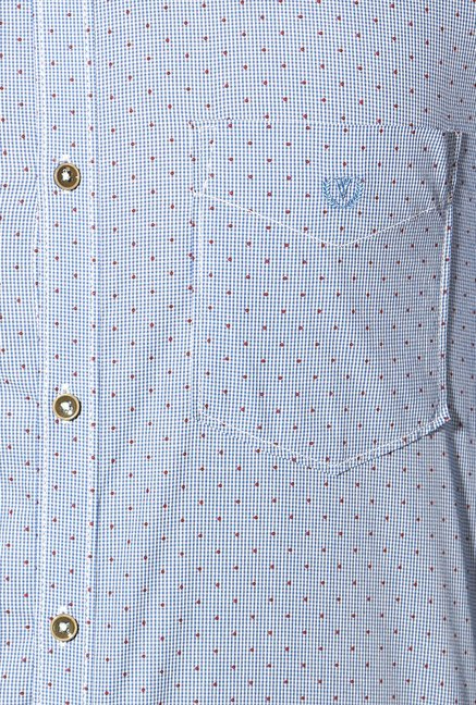 Van Heusen Light Blue Slim Fit Cotton Shirt