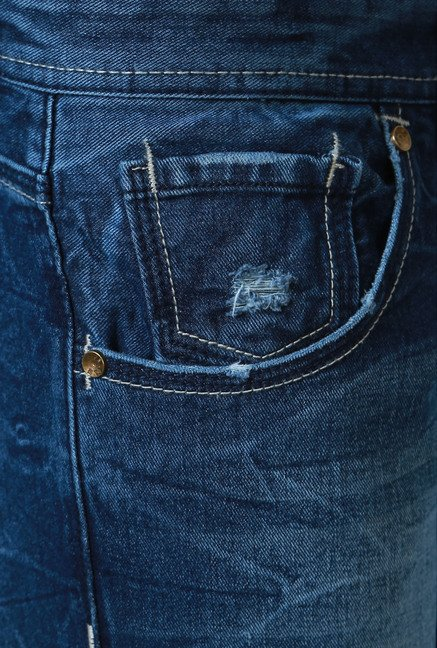 People Ink Blue Lightly Washed Slim Fit Jeans