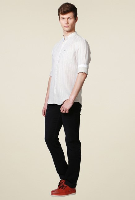 Allen Solly Ecru Comfort Fit Shirt