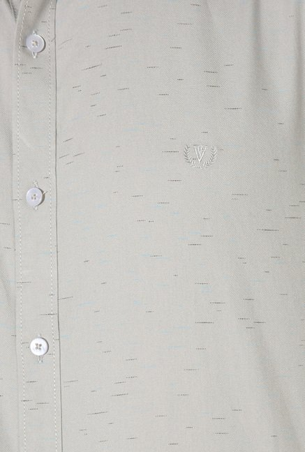 Van Heusen Light Grey Full Sleeves Regular Fit Shirt