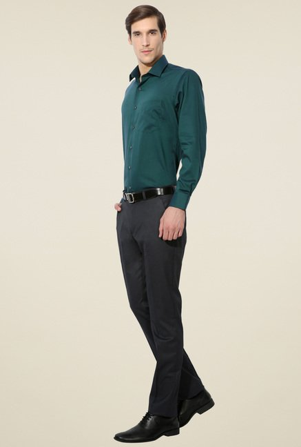 Van Heusen Teal Green Regular Fit Shirt