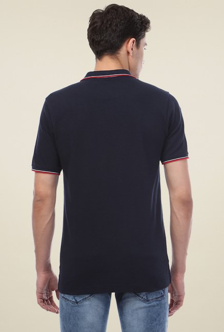 Van Heusen Navy Polo Solid T-Shirt