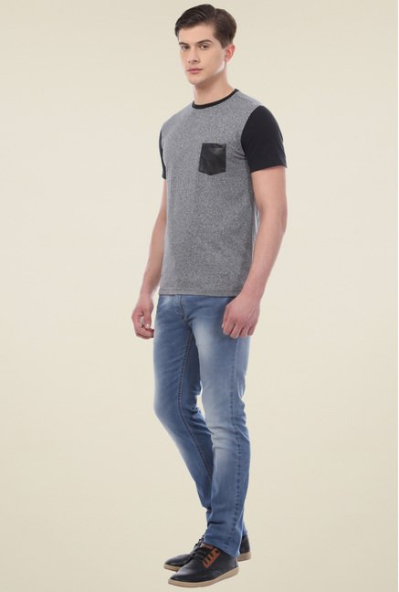 Van Heusen Grey Crew Neck T-Shirt