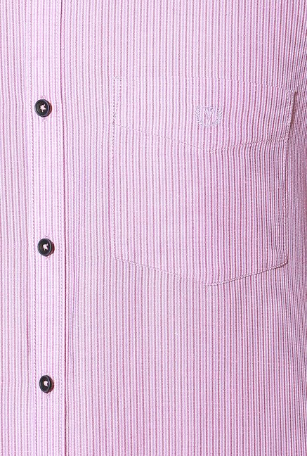 Van Heusen Pink Full Sleeves Striped Shirt