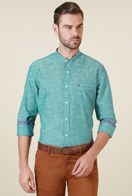 Allen Solly Green Full Sleeves Shirt