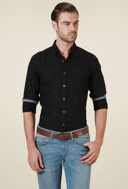 Allen Solly Black Full Sleeves Shirt